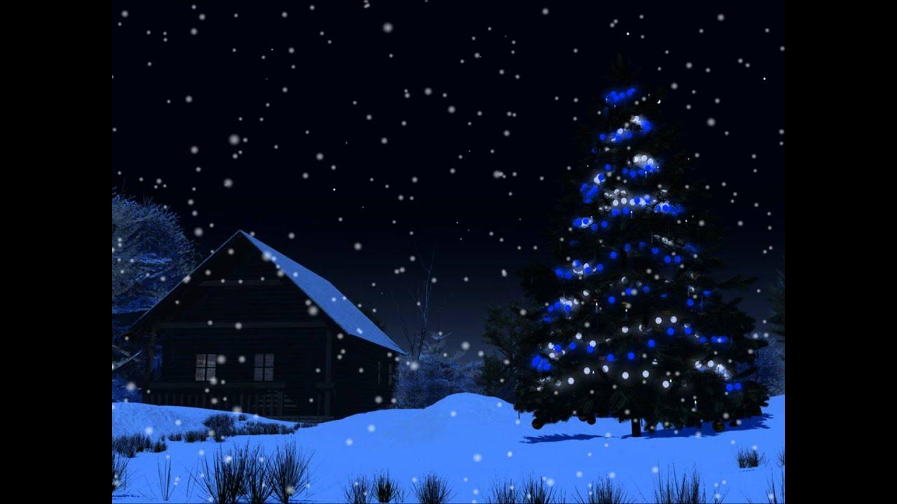 Christmas night motion background youtube
