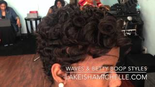 Short Hair Cuts Waves Texture Betty Boop Los Angeles
