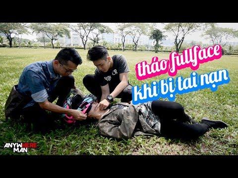 THÁO NÓN FULLFACE CHO PHƯỢT THỦ BỊ TAI NẠN GIAO THÔNG   Vietnam motovlog