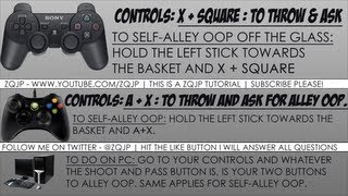 NBA 2K13 Tutorial W/ Pics: How To Throw/call For/and Self