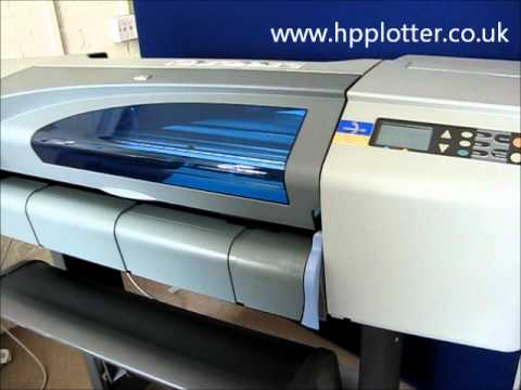 Designjet 500/510/800 Series - Load paper/media sheet on your printer