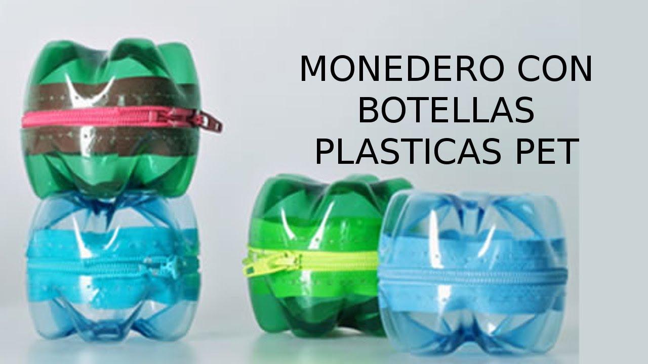 Reciclaje de botellas pl sticas pet manualidades monedero youtube - Que manualidades puedo hacer ...