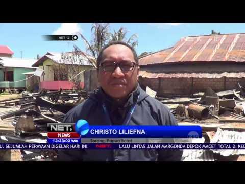 Live Report - Bentrok Antar Warga di Sorong, Ratusan Warga Mengungsi - NET12
