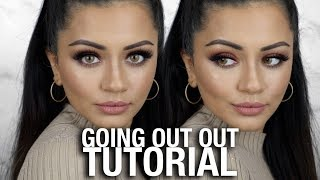 """GOING """"OUT OUT"""" EASY PARTY MAKEUP TUTORIAL 