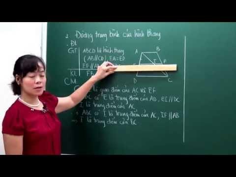 [Hocmai.vn] Toán lớp 8 -  Đường trung bình của tam giac, của hình thang - Cô Bùi Thanh Bình