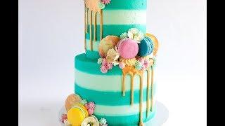 Striped Buttercream Cake Tutorial- Rosie's Dessert Spot