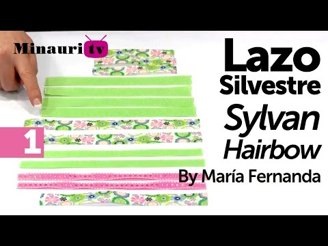 DIY - Lazo Silvestre by María Fernanda 1/2 ( How-to make ¨Silvestre¨ hair bow )