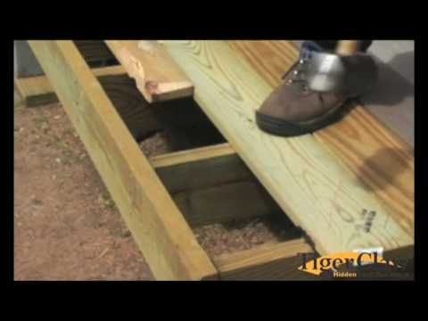 Installation Instructions For Treated Lumber Decking Youtube