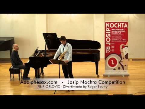 JOSIP NOCHTA COMPETITION FILIP ORLOVIC Divertimento by Roger Boutry