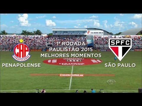 Melhores Momentos - Penapolense 1 x 3 São Paulo - Paulistão - 01/02/2015
