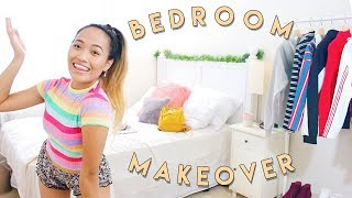 MY INEXPENSIVE BEDROOM MAKEOVER   RE-DOING MY ROOM 2018 (on budget)