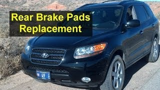 Rear brake pads replacement on a Hyundai Santa Fe SUV - Auto Repair Series