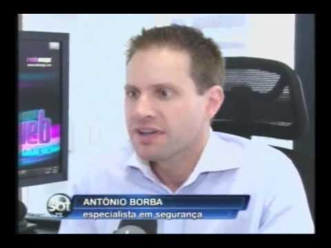 Antonio Borba dá dicas de segurança na internet - SBT Paraná - 08/05/2012