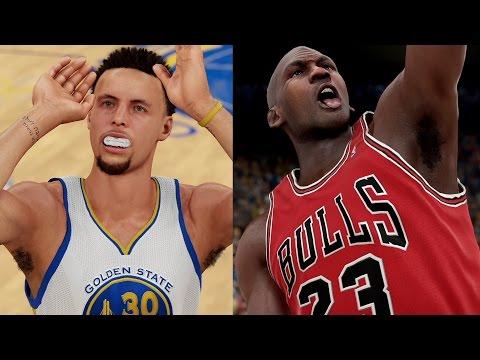 Chef Curry vs Jordan! Splash Abuse! Warriors vs 96 Bulls! NBA 2K16 PS4 Play Now