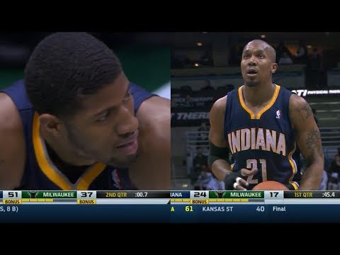 2014.02.22 - Paul George & David West Full Combined Highlights at Bucks