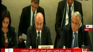 كلمة وزير شئون النواب أمام مجلس حقوق