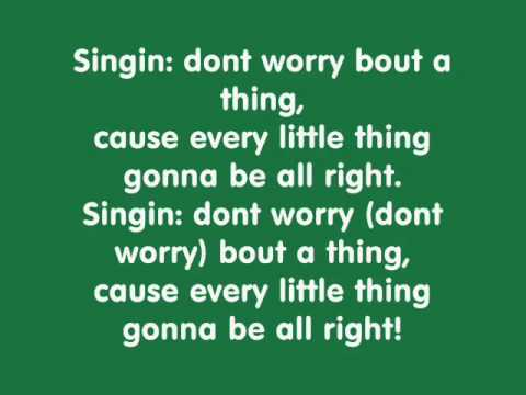Three little birds  Bob Marley with lyrics