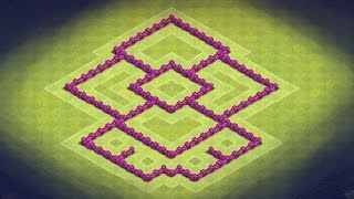 Clash Of Clans TH6 Hybrid Base (The Wizard) (Trophy
