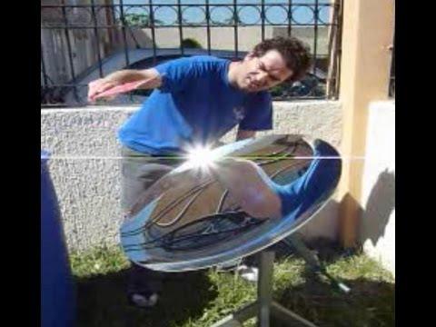 Energía gratis Free Energy Concentrador solar parabolico TecnoDesarrollos