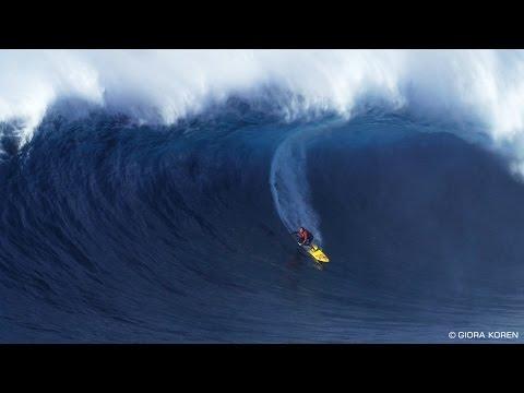 Kai Lenny monster barrel - Jaws - Peahi Maui Jan 21st 2015