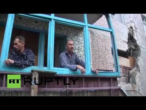 Ukraine: Slavyansk homes destroyed during overnight shelling