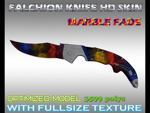 cs go falchion knife marble fade hd skin for cs 1 6