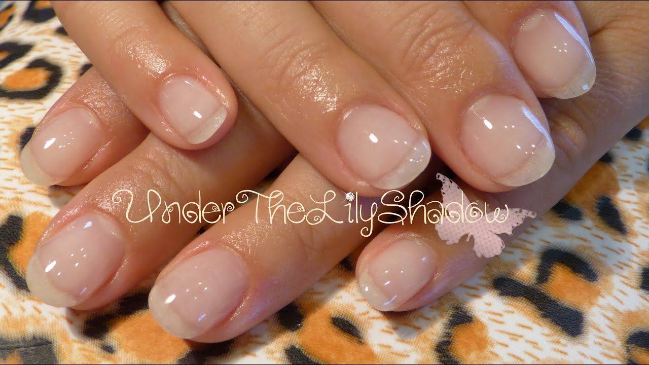 Natural Gel Nails - Gel Overlay ★☆ - YouTube