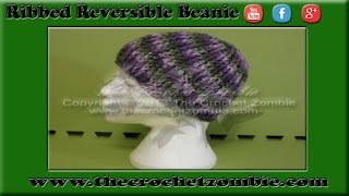 Ribbed Reversible Beanie Tutorial