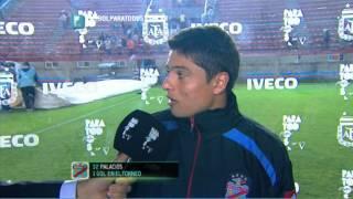 """Palacios: """"Sentimos el cansancio"""". Arsenal 1 - Boca 1. Fecha 16. Torneo Primera División 2014. FPT"""