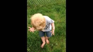 Reaksi lucu anak yang menginjak pup anjing