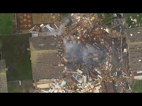 Massive explosion destroys houses in Clacton, Essex