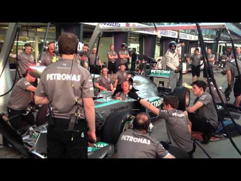 Mercedes F1 Pit Stop Practice - 2013 Formula 1 Australian Grand Prix