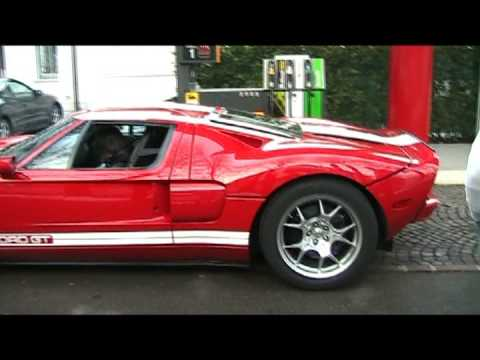 Ford GT - VERY LOUD SOUND - Start up, Acceleration & Flames