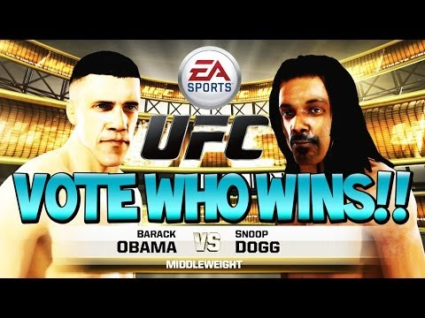 "BARACK OBAMA vs SNOOP DOGG - Vote Who Wins Inside! ""EA SPORTS UFC"""
