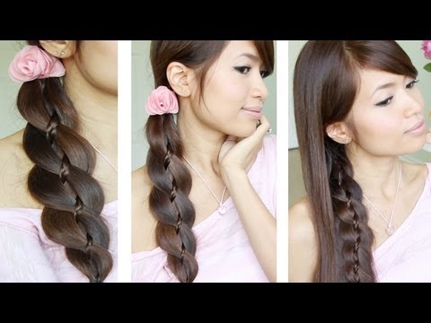Unique 4 Strand Braid (Braid in Braid) Hairstyles for Medium Long Hair Tutorial, Like & favorite for more ♥ Learn how to do more cute hairstyles: http://www.youtube.com/playlist?list=PLD4D5DE6CCCF00AF4 HOW TO DO A FOUR (4) STRAND BRAID He...