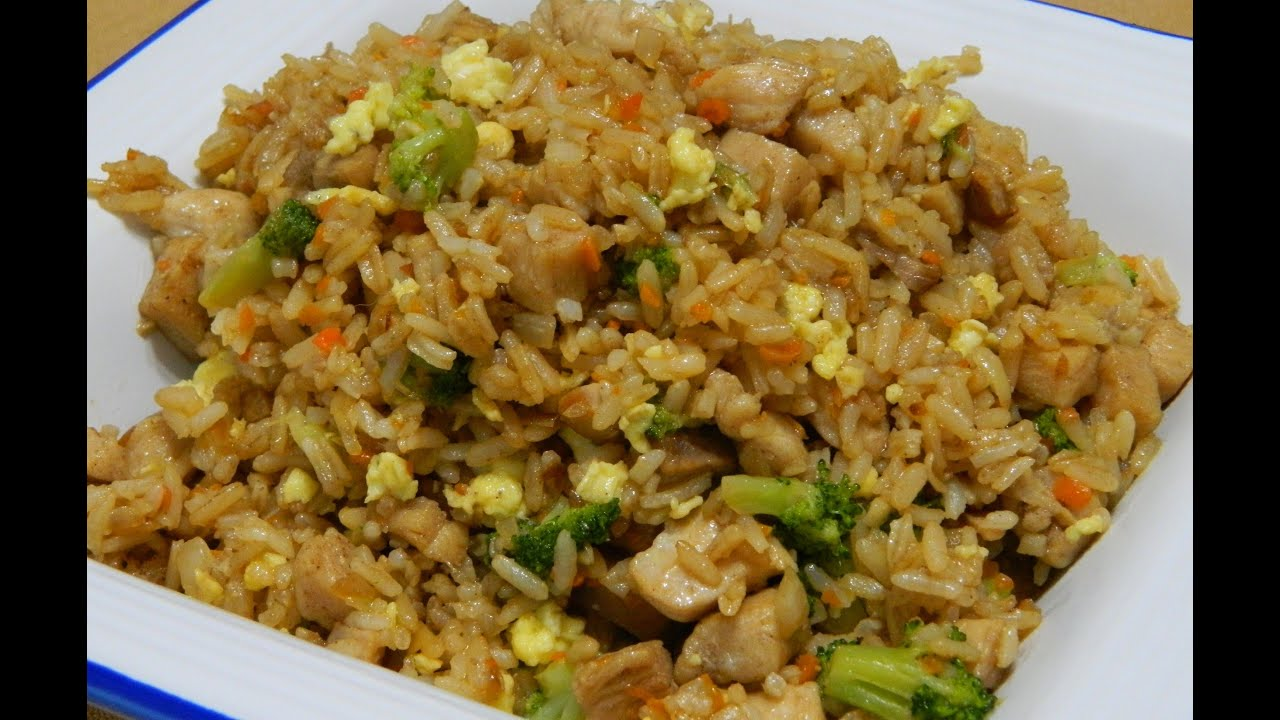 how to make pork fried rice youtube