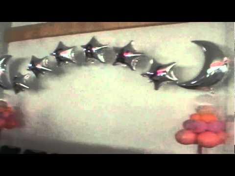 Decoracion con globos arco para xv a os youtube for Decoracion de globos para 15 anos