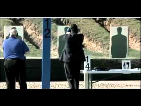Woman Tells Rick Santorum to pretend its Obama at a gun range