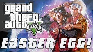 Grand Theft Auto 5 Back To The Future Easter Egg! (GTA V