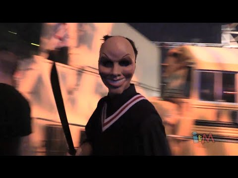 The Purge: Anarchy scare zone at Halloween Horror Nights 2014, Universal Orlando