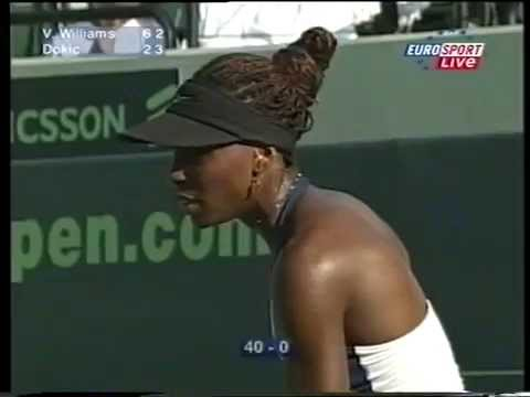 2001 Venus Williams VS Jelena Dokic Miami QF