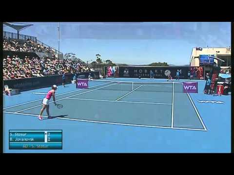 Samantha Stosur vs Bojana Jovanovski, Hobart International 2014 - Full Match