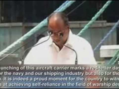 Indian aircraft carrier  with first home built aircraft, nation joins U S , France, Russia and Brita