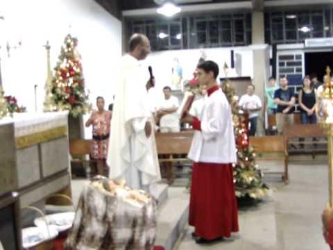 Primeira benção do Ano dada pelo Pe. Alexandre Guidio, 01-01-15