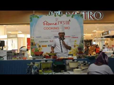 Neoflam Metro Home Fiesta 2012 Cooking Demo with Chef Cucu Cahyana