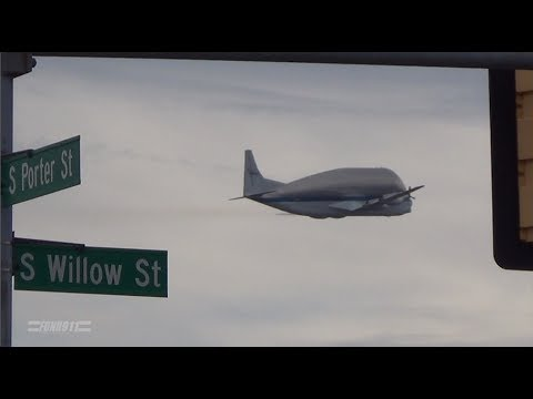 NASA Super Guppy Flying over Manchester, NH