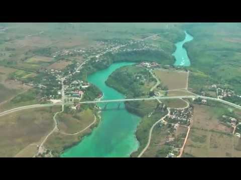 Landing on Varadero Airport Cuba with beautiful views on Varadero
