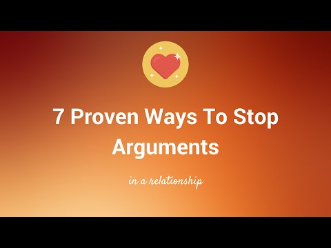How To Stop Arguing In Relationships