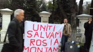 Protest HP pt Rosia Montana la Chisinau