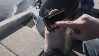 Видео обзор Двухканальный эхолот/Картплоттер с Wi-Fi: CHIRP Эхолот и Структурный CHIRP DownVision™ (Структурный режим с детальным формированием эхолокационного изображения высокой четкости), Встроенный GPS приемник, Встроенный Wi-Fi контроллер, экран 5